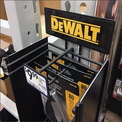 DeWalt Mini-PowerWing Strip Merchandiser