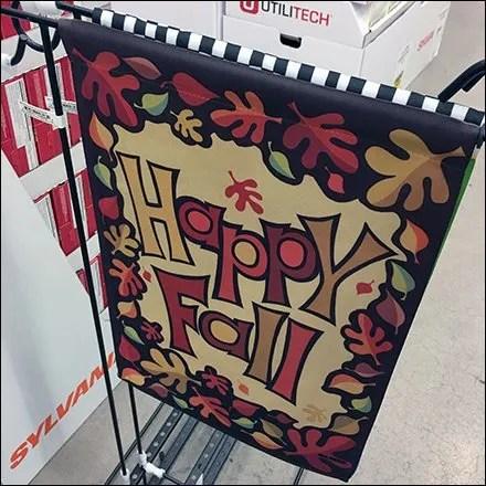 Fall Lawn Flag Plug-in Floor Rack Asymmetry