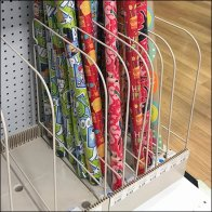 Adjustable Open Wire Shelf Dividers for Gift Wrap
