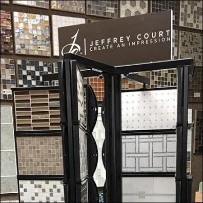 Jeffrey Court Multiple Spinner Tile Floor Display
