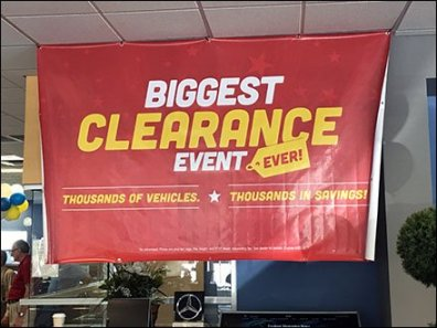 Mercedes Benz Biggest Clearance Event Ever