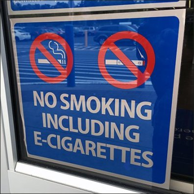 No Smoking … Including No In-Store Vaping
