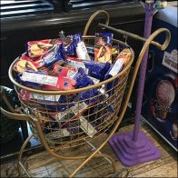 Ornate Gourmet Shopping Cart Display