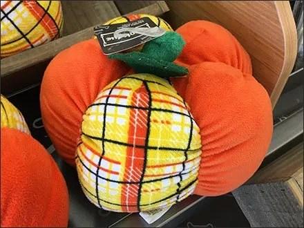 Plush Pumpkins Wood Tray Bootique Display