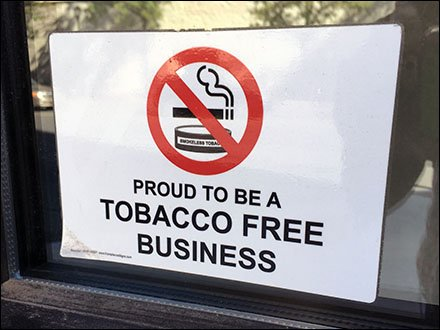 Proud Tobacco Free Business Sign