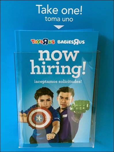 Toys R Us Entry Sign Hiring For 5 Positions