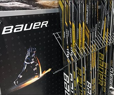 Bauer Hockey Stick Endcap Dividers In Open Wire
