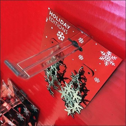 Corrugated Christmas Tree For Fashion Jewelry Butterfly Hook