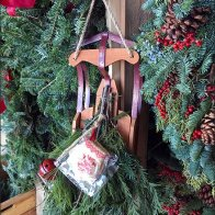 Flexible Flyer Sled As Christmas Holiday Prop