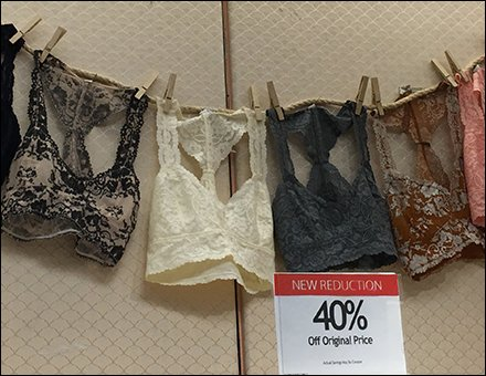 Macy's Lingerie Hung-Out to Dry and Buy