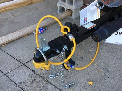 Log Splitter Twin-Tether Anti-Theft Strategies