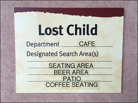 Lost Child Search Protocol Checklist Redux