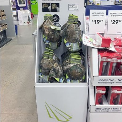 Lowes PowerCap Lighted Beanie Display