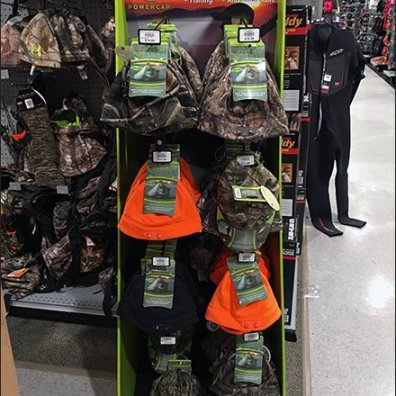 Dick's Sporting Goods PowerCap Winter Lighted Beanie Display