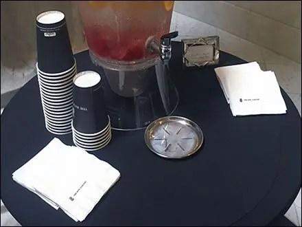 Ritz Carlton Lobby Lemonade Accoutrements