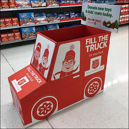 Salvation-Army Charitable Corrugated Display