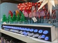 Christmas Lollipop Lights at Shelf Edge