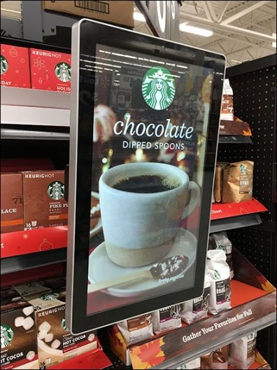 Starbucks Video Competes For Shelf-Edge Sales