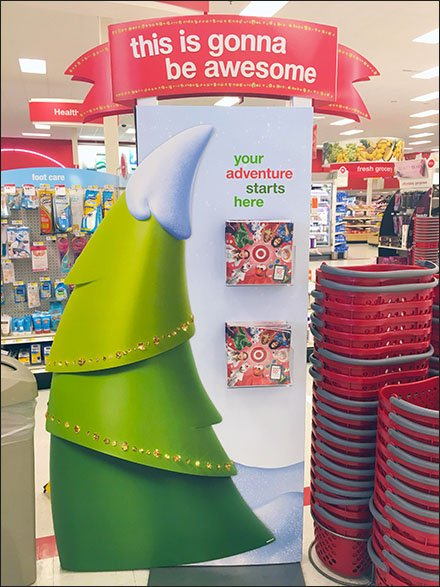 Awesome In-Store Christmas Catalog Holder