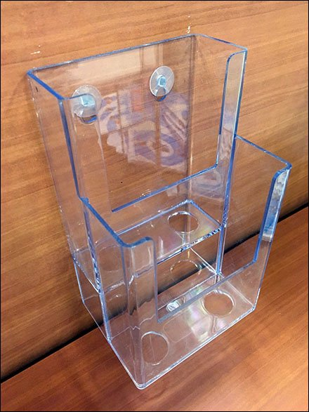 Push-Pin Two-Tier Literature Holder
