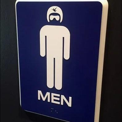 iFly InDoor Skydiving Restroom Branding