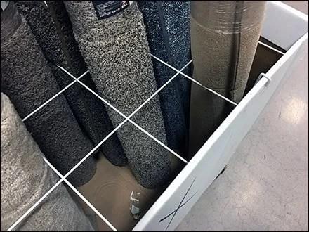 Area Rug Wire Divider Carpet Merchandiser