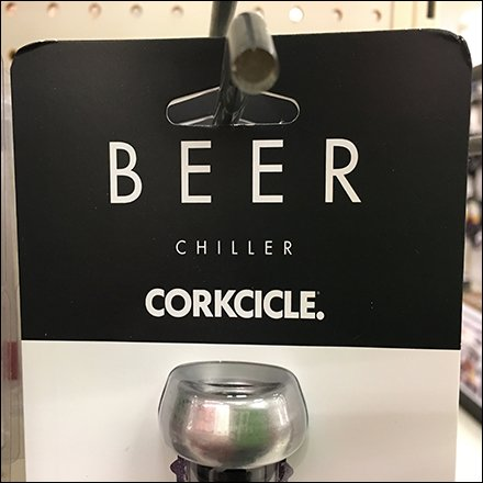 Beer Corkcicle On Straight-Entry Hook Feature