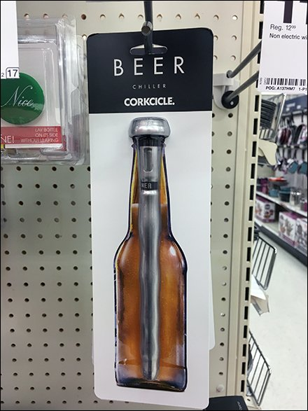 Cold Beer Sold By Straight-Entry Scan Hook