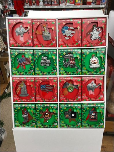 Christmas Collectable Ornaments Corrugated Display 2