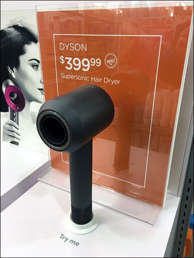 Dyson SuperSonic Hair Dryer Display POP 3