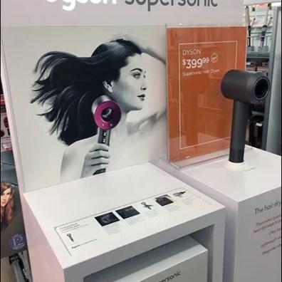 Dyson SuperSonic Hair Dryer Display POP 5