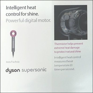 Dyson Selling Points For SuperSonic Hair Dryer