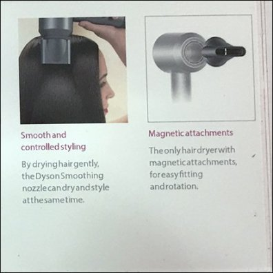 Dyson Selling Points For Its SuperSonic Dryer