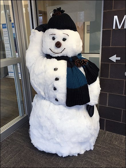 Snowman-Tag-Team At Store Entry