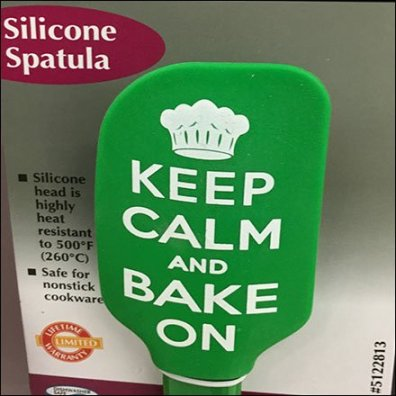 Keep Calm and Bake On Corrugated Hook