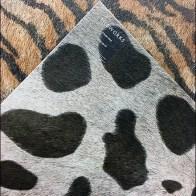 Faux Fur Animal Print Ceramic Tile Floor Stand