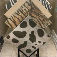 Faux Fur Animal Print Ceramic Tile Floor Stand  Fixtures ...