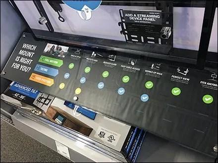 Color-Coding Giant Flatscreen TV Mounts