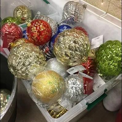 Giant Christmas Ball Tote Bins 2