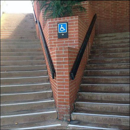 Handicapped Please Keep to The Right