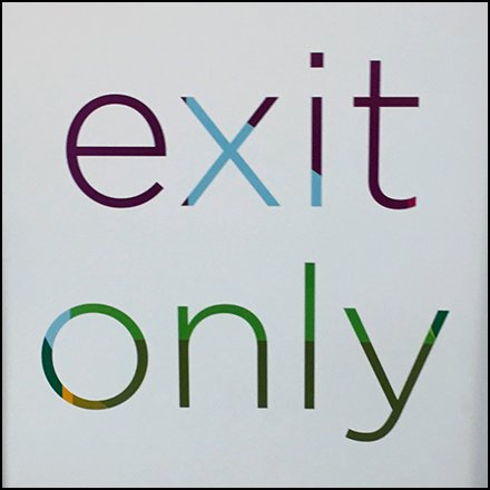 Kohls Cashwrap Navigation: Exit Only Sign