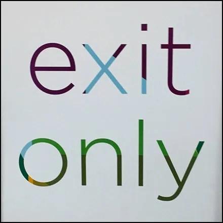 Kohls Cashwrap Navigation: Exit Only Sign