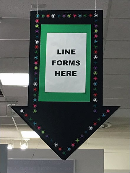 Line Forms Here Down Arrow Directive