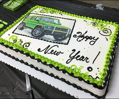 Mercedes Benz 2017 Alien Green Party Cake 2