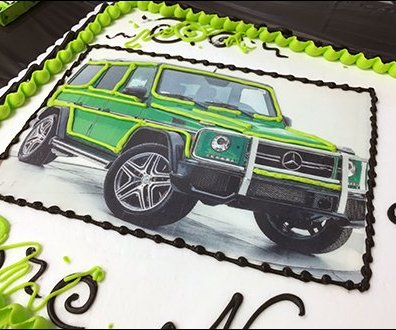 Mercedes Benz 2017 Alien Green Party Cake 3