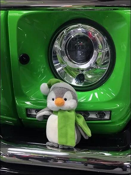 Mercedes Benz 2017 Alien Green Plush Toy