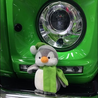Mercedes Benz 2017 Alien Green Plush