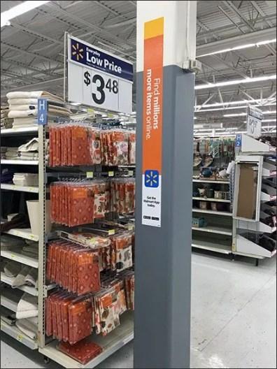 Architectural Element Advertises Walmart App