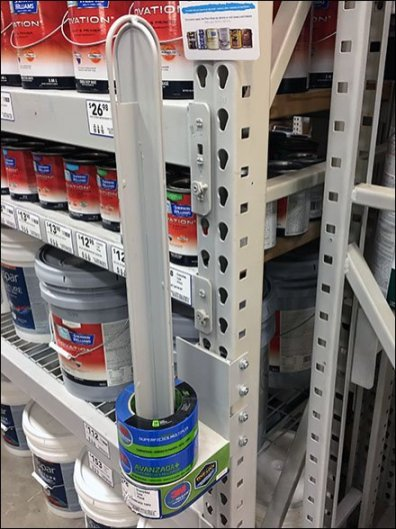 Pallet Rack Masking Tape Merchandiser