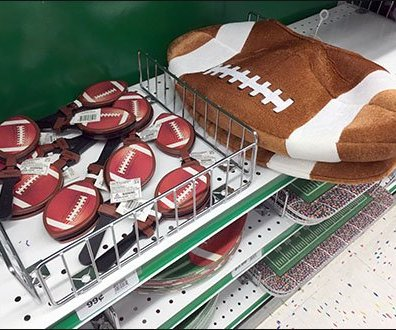 Party City Football Shelf Fencing 3
